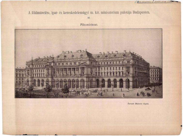 Eredeti rajzos ábrázolás az épületről